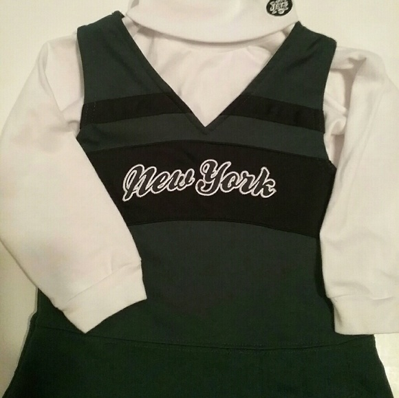 006fb5c5 🎀Toddler Girls NEW YORK JETS CHEER OUTFIT 24 m
